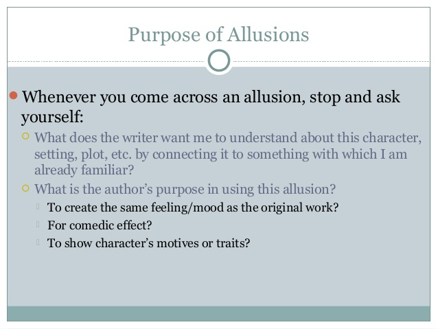 the purpose of allusions