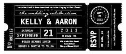 theater playbill wedding boarding pass ticket invitation