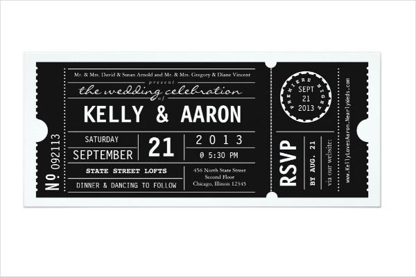 theater playbill wedding boarding pass ticket invitation1