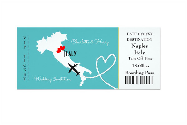 ticket wedding boarding pass invitation1
