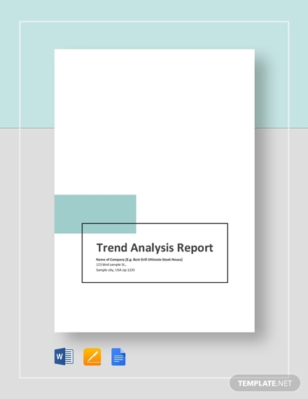 trend analysis report template