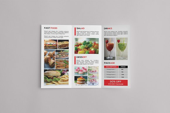 trifold cookbook catalog example