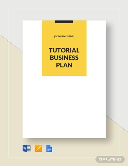 tutoring business plan template