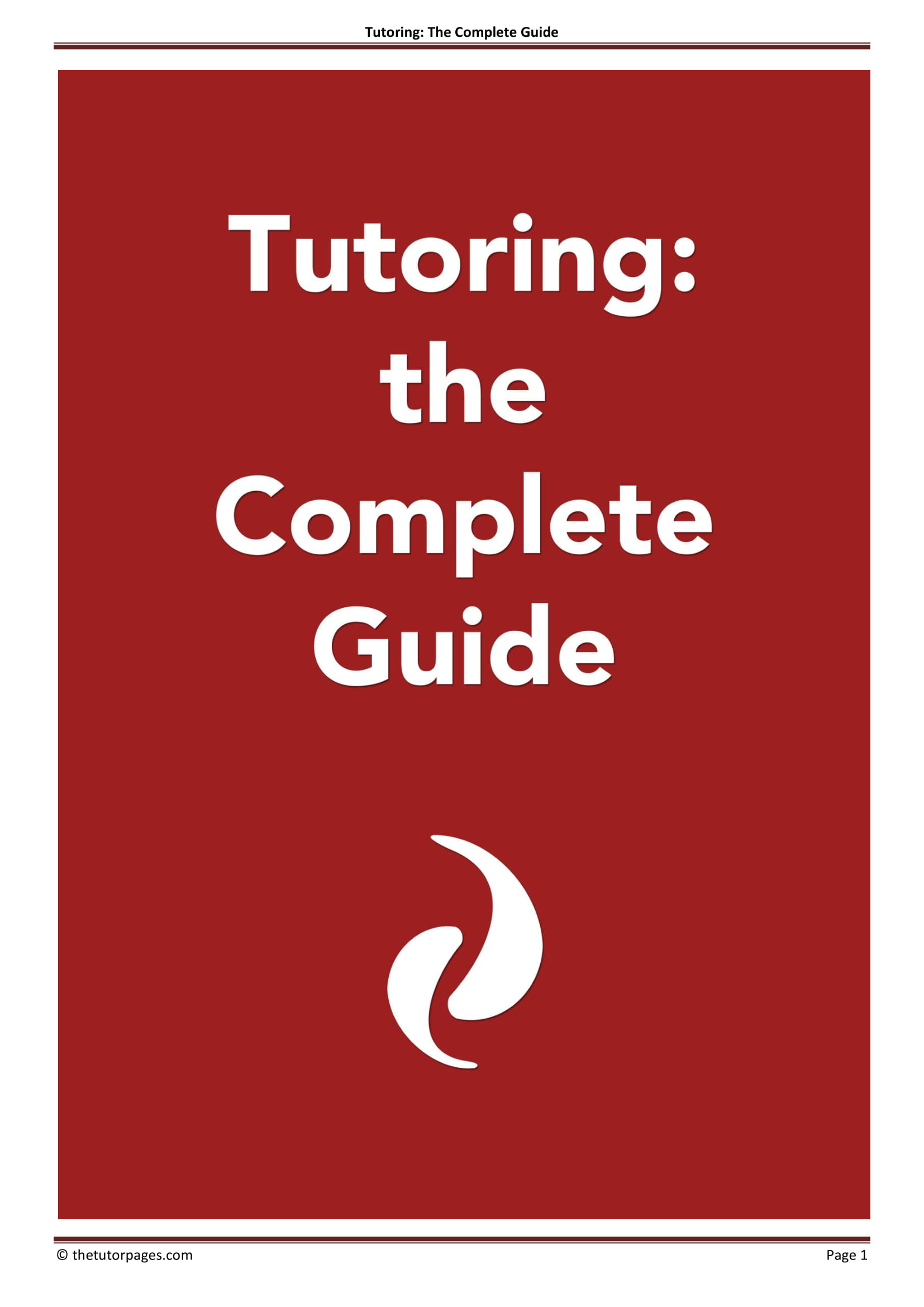 tutoring the complete guide