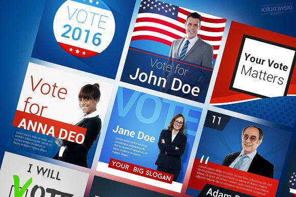 usa election social media banner example