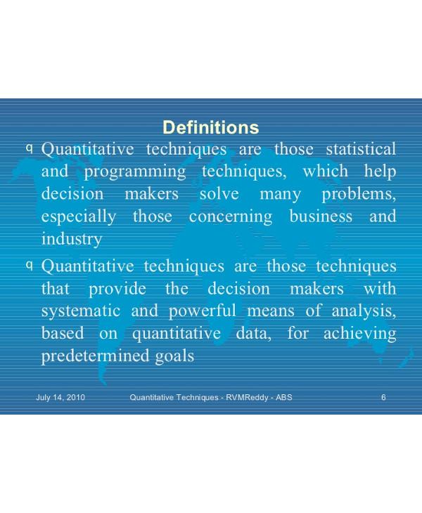 understanding quantitative techniques1