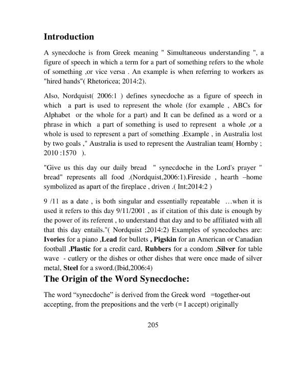understanding synecdoche in literature example1