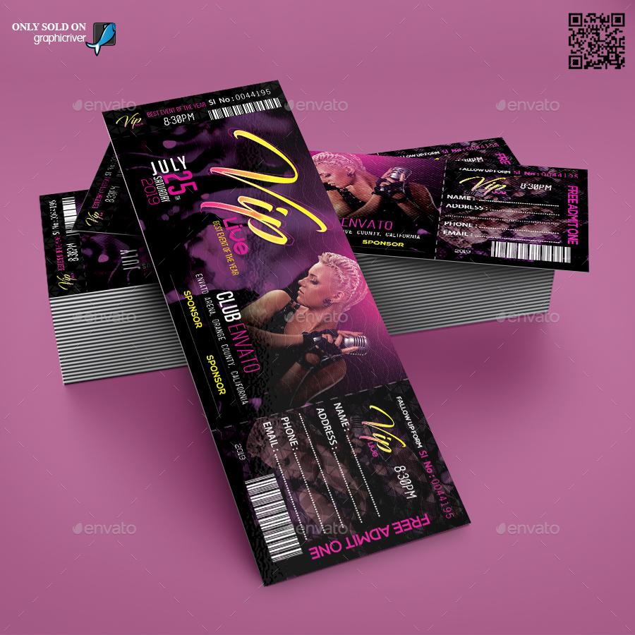 vip live concert ticket template