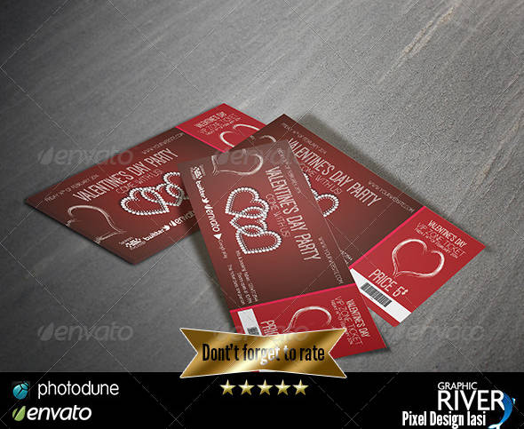 valentines day party event ticket example1