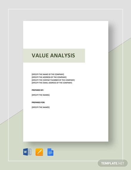 value analysis template