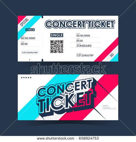 vector live concert ticket example
