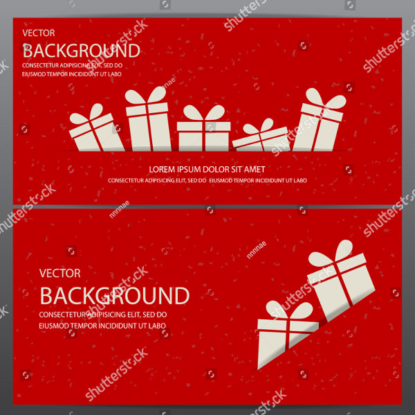 vector red christmas ticket template example1