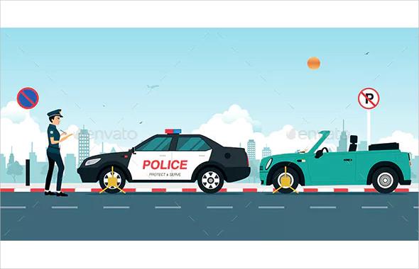 vector traffic ticket example
