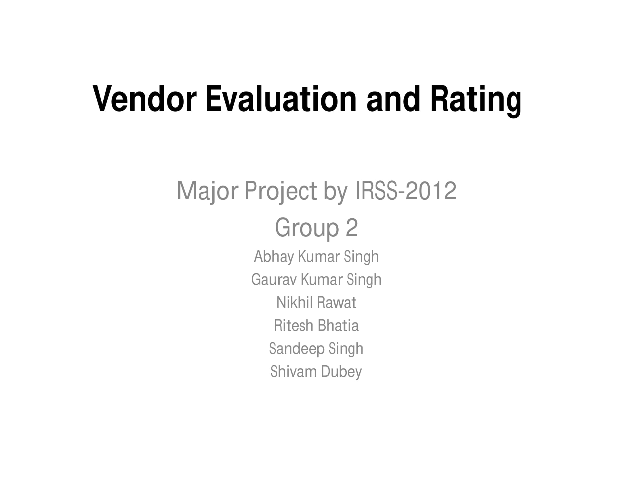 vendor evaluation and rating example 01