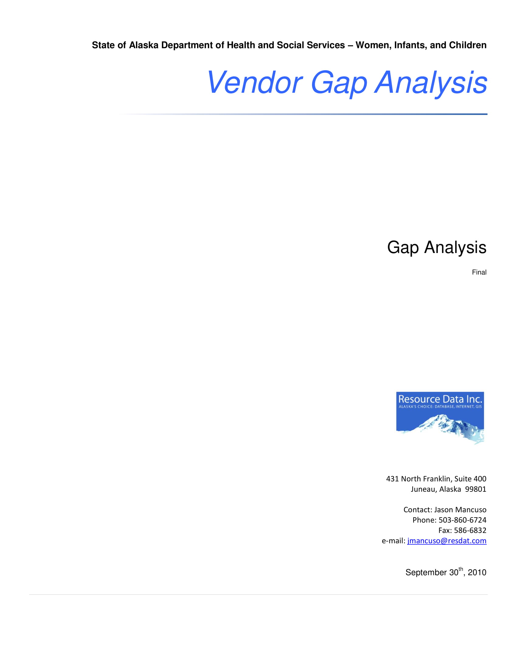 vendor gap analysis example 01