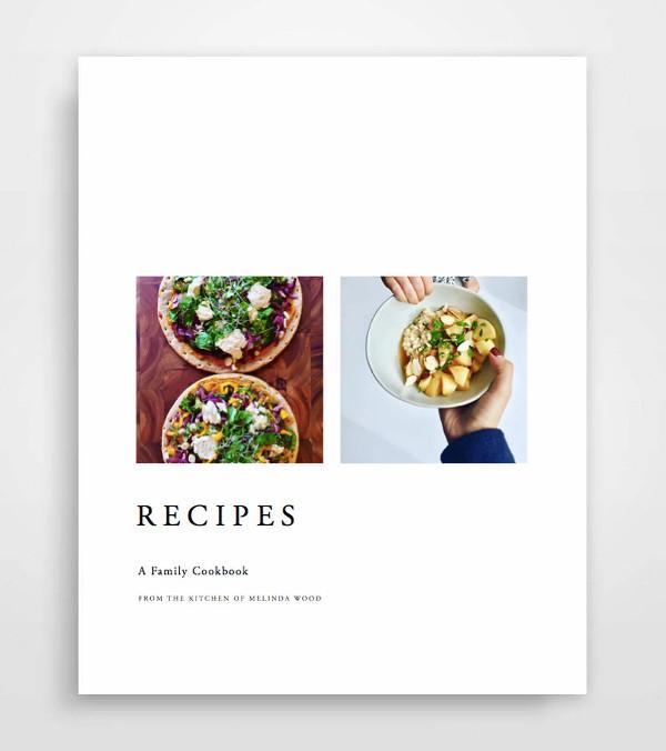 very simple printable cookbook catalog example1