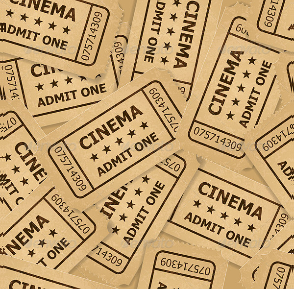 vintage cinema ticket example