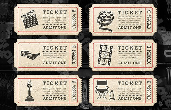 vintage cinema tickets template example