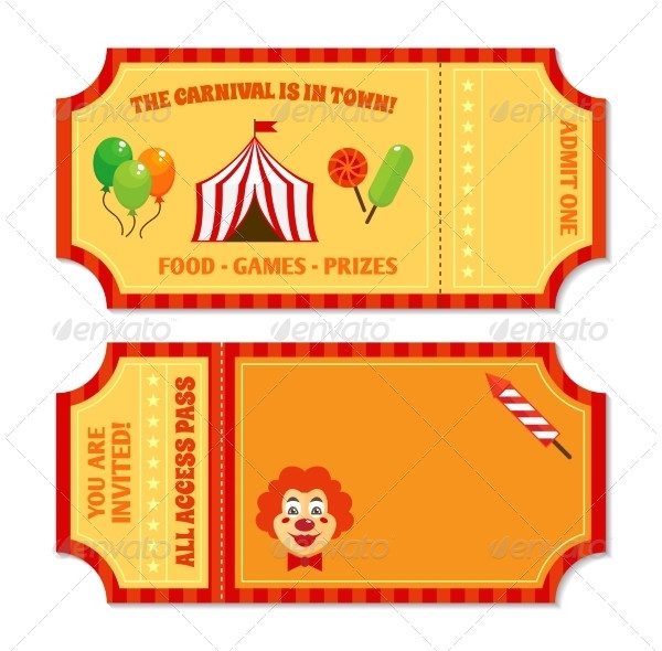 vintage circus tickets template