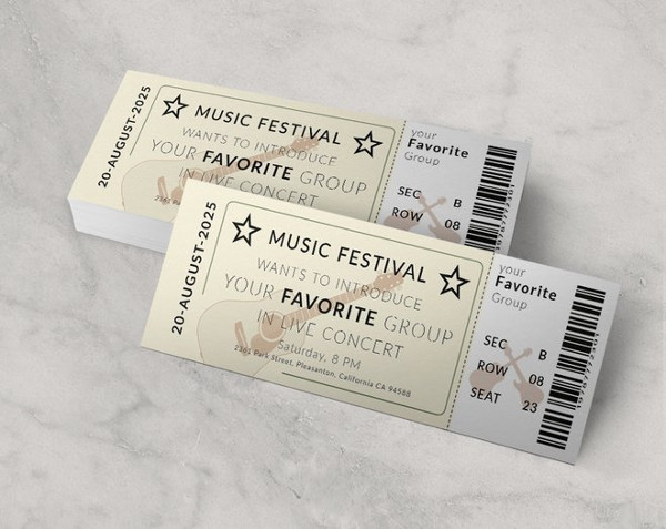 vintage concert ticket template