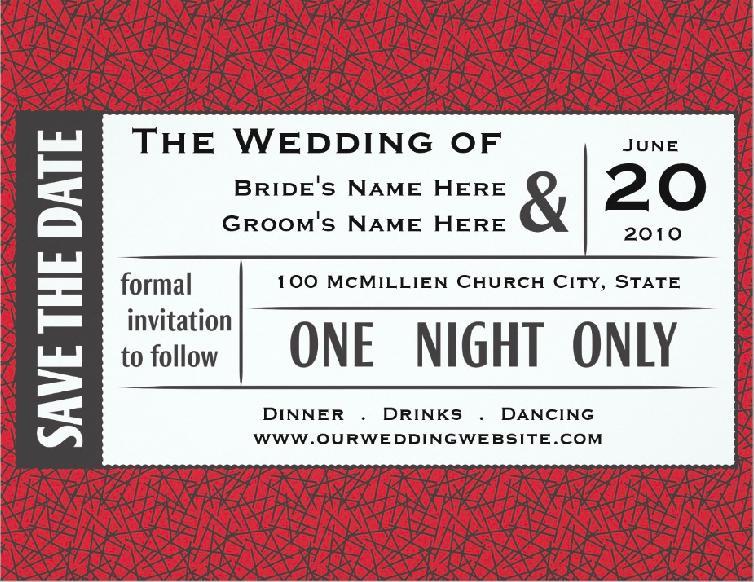 vintage event ticket invitation