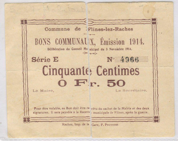 vintage french ticket voucher example
