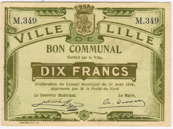 vintage french voucher example