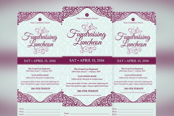 vintage fundraising luncheon ticket event