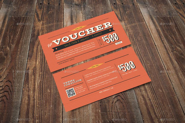 vintage hipster voucher example
