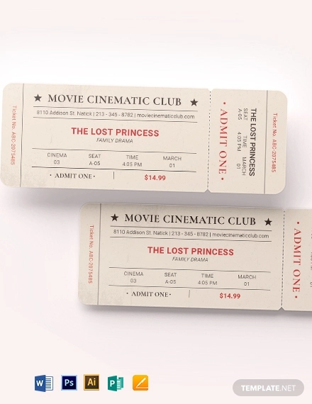 vintage movie ticket template1