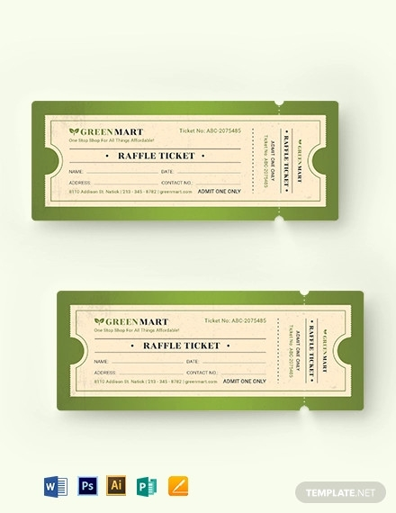 vintage raffle ticket template1