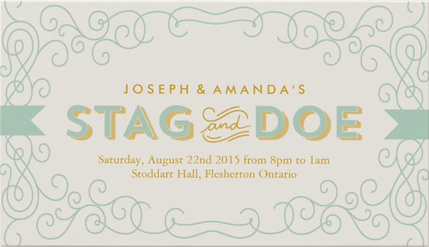 vintage stag and doe event ticket