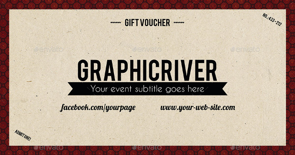 vintage style gift voucher example