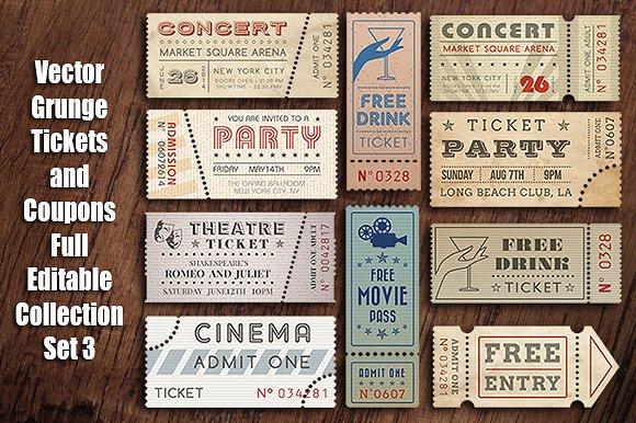 vintage vector movie ticket invitation example