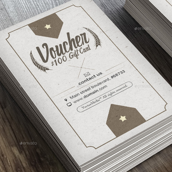 vintage voucher card example