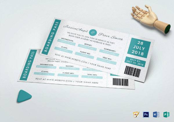 wedding ceremony invitation ticket template 600