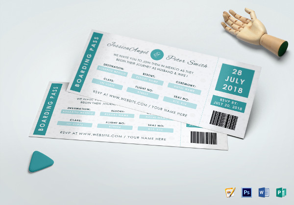 wedding ceremony invitation ticket template
