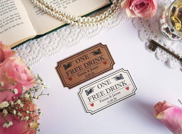wedding drinks voucher example