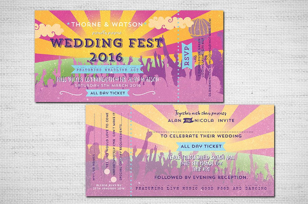 wedding festival concert ticket example1
