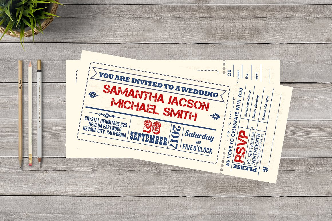 wedding funfair invitation ticket example