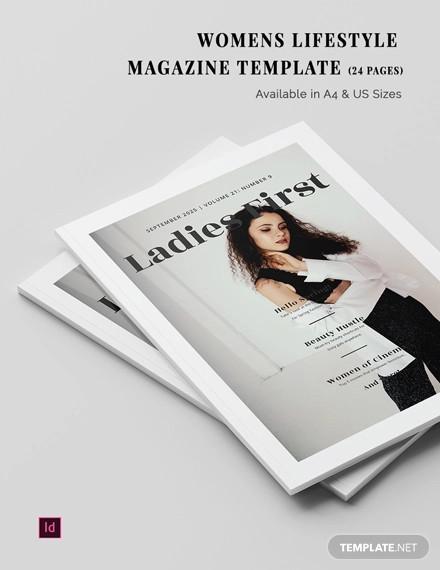 womens lifestyle magazine template