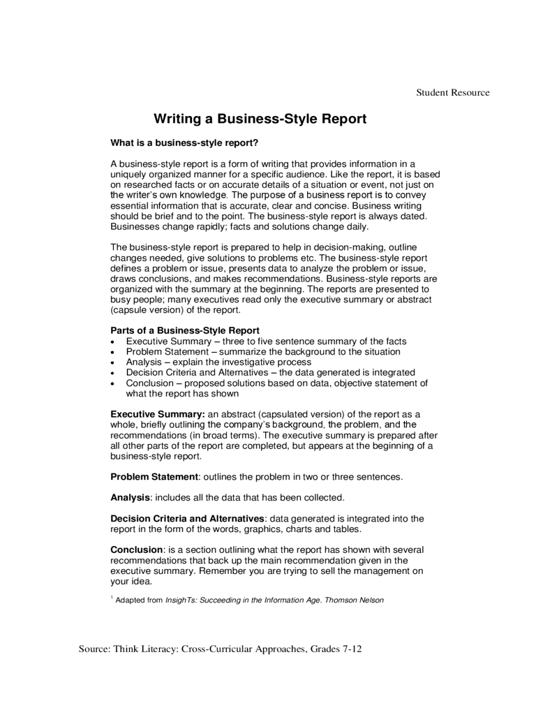 how to write a report conclusion and recommendation
