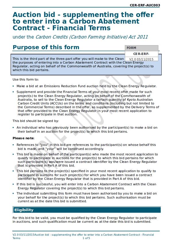 bid form carbon