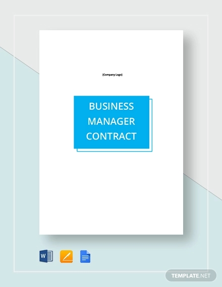 business manager contract