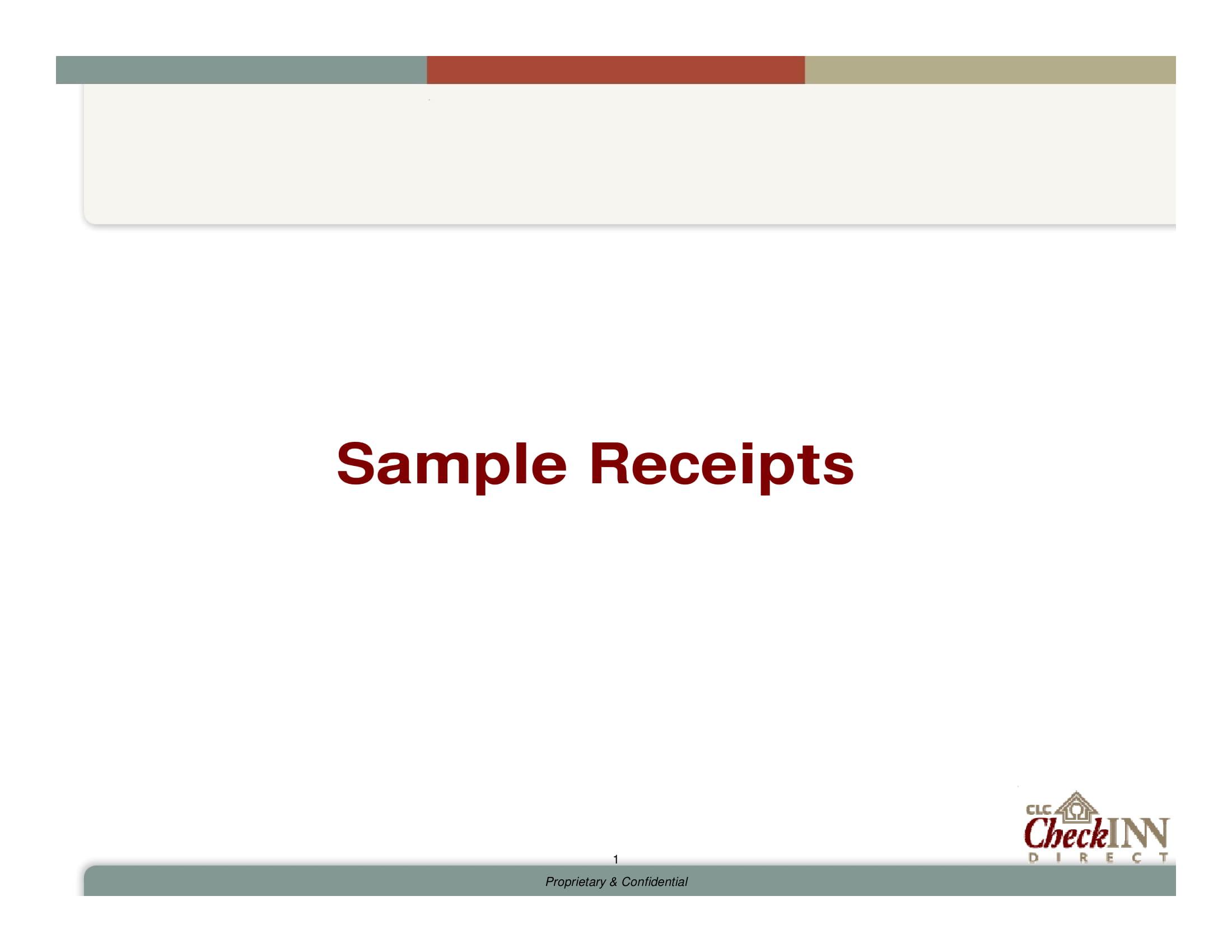 clc sample receipts