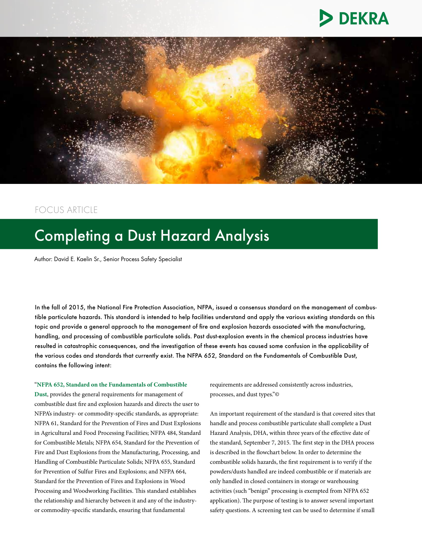 completing a dust hazard analysis letter us final