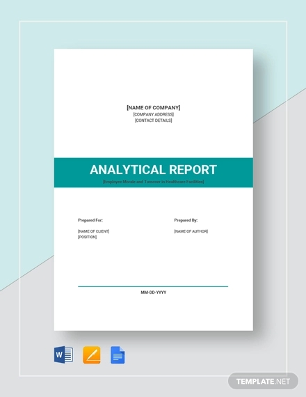 18 + Analysis Report Templates & Examples - PDF, Word, Apple
