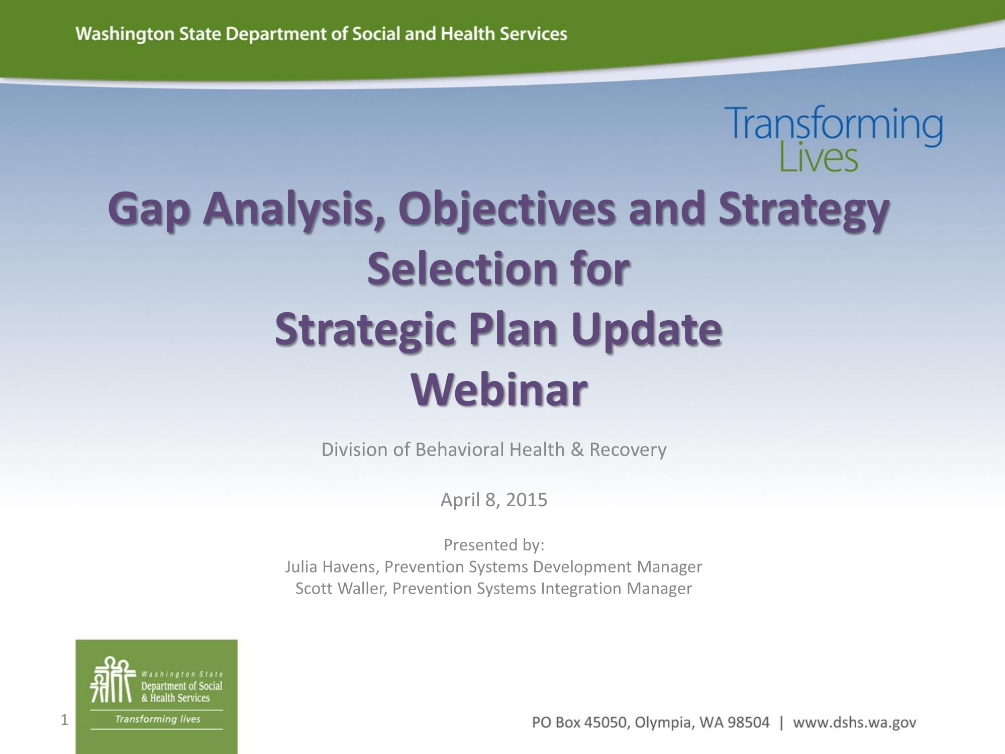 gap analysis webinar slides