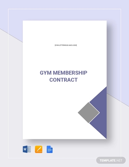 gym membership contract