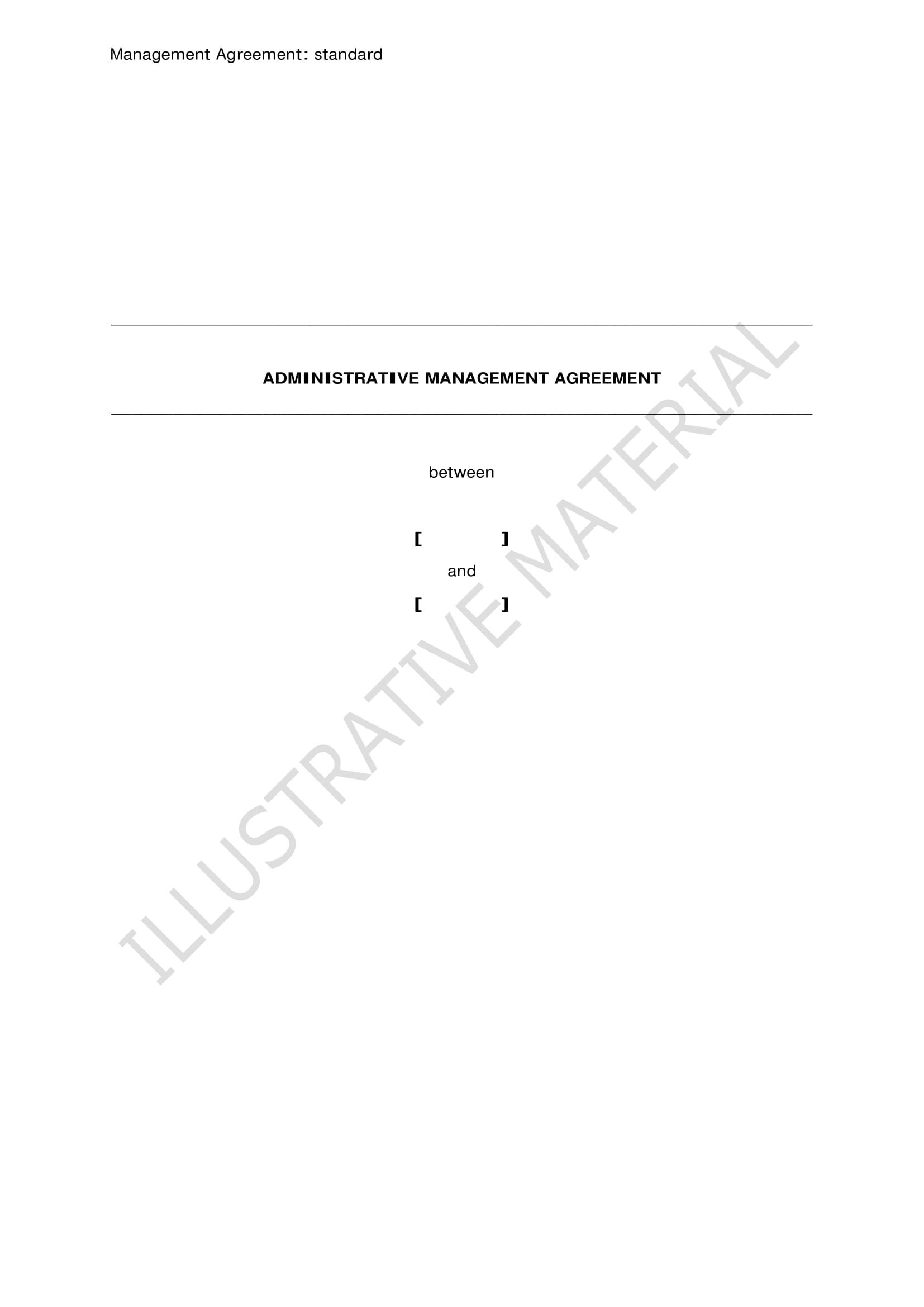 handout specimen contract